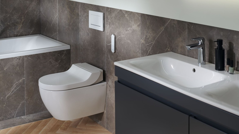 Geberit AquaClean Tuma Dusch WC im Badezimmer