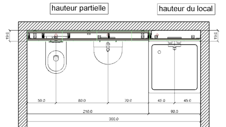Plan de modèle Geberit Duofix und GIS