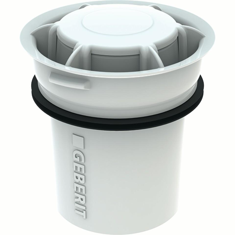 Sifone ibrido Geberit per orinatoi a funzionamento senza acqua e con risciacquo