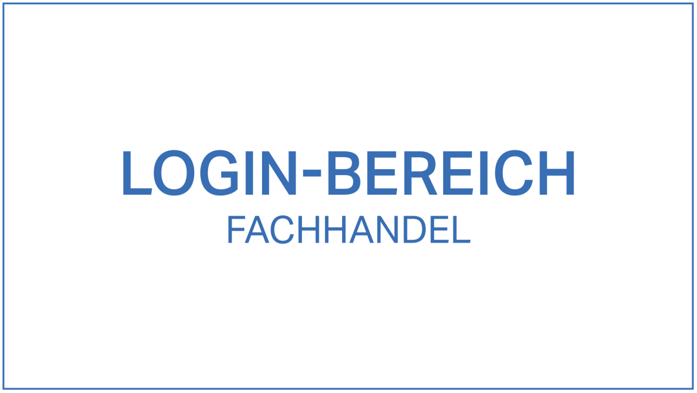 Login-Bereich Fachhandel