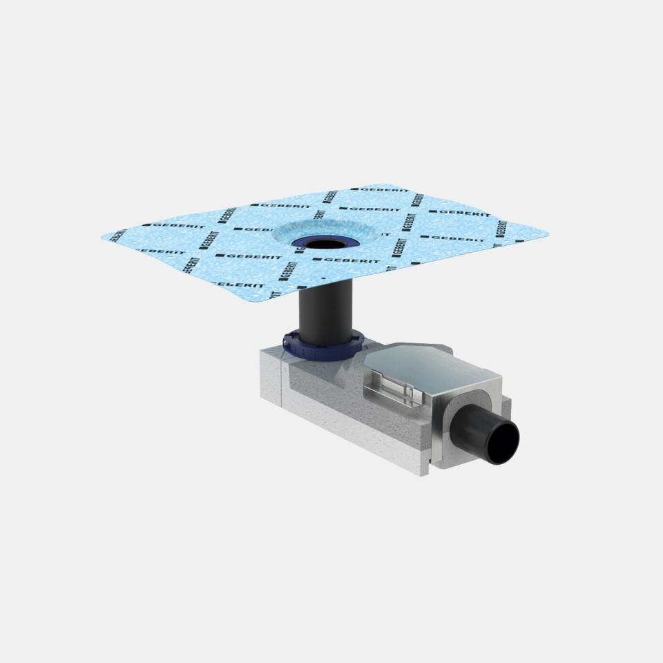 Geberit Bodenablauf für Dusche mit Designabdeckung quadratisch